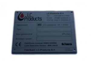 Typeplaat KIWA BRL-K910, incl. certificaat